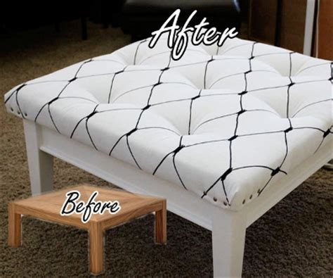 ottoman from coffee table diy diy coffee table to ottoman makeover