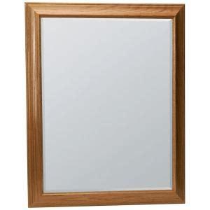oak bathroom mirror glacier bay hton 29 1 4 in x 35 in framed vanity