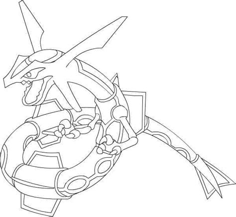 pokemon mega rayquaza coloring pages images pokemon images