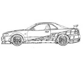 Fast And Furious 1 Coloring Pages 8 sketch template