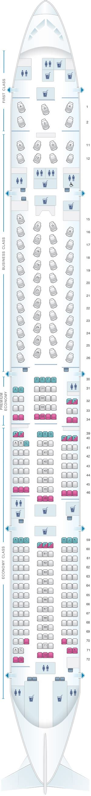 cathay pacific seat map plan de cabine cathay pacific airways boeing b777 300er