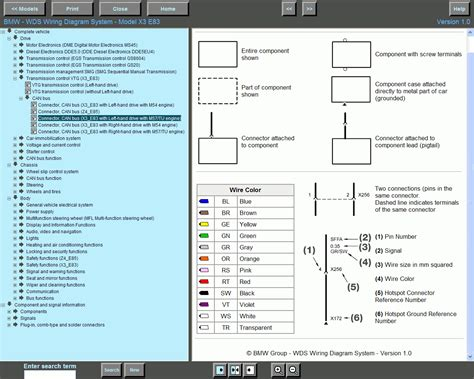 bmw wiring diagram system wds version 12 0 wiring diagram