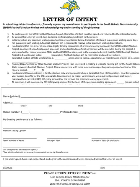 Letter Of Intent Finance Exle Letter Of Intent For Free Formtemplate