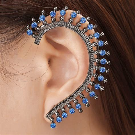 Forget studs or chandeliers: make a statement ear cuff