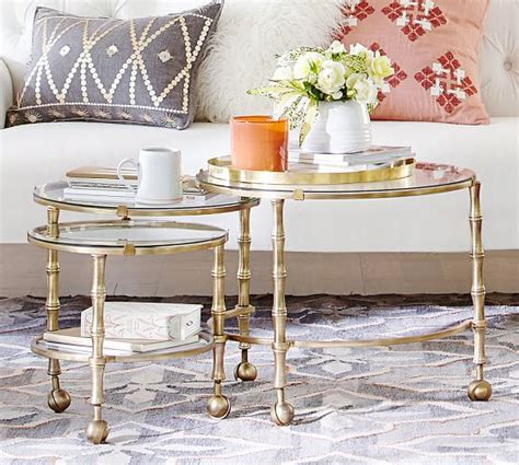 Nesting Tables Pottery Barn by Opaline Nesting Coffee Table Pottery Barn