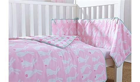 Clair De Lune Rabbits Cot Cot Bed Quilt And Bumper Set Cot Bedding Sets Asda