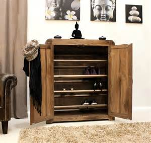 Hallway Shoe Storage Cabinet Strathmore Solid Walnut Home Furniture Hallway Shoe Storage Cabinet Cupboard Rac