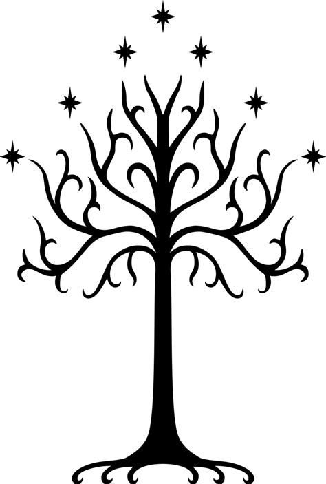 tree tattoo png image white tree of gondor symbol by drdraze d7ebn9l png