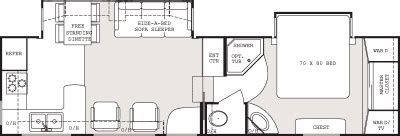 everest rv floor plans 2007 keystone everest 293p floorplan