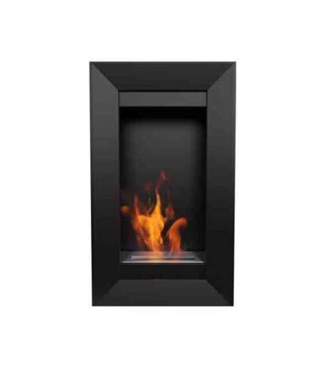 chimenea de pared chimenea de pared vertical a bioetanol 2