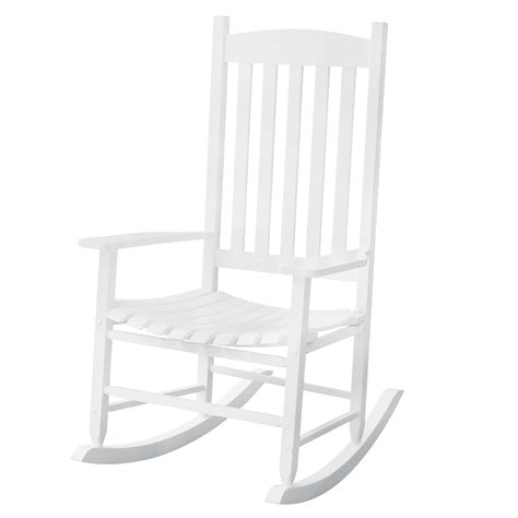 white outdoor rocking chair solid wood rocking chair rocker porch indoor outdoor patio