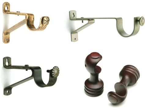 double curtain rod hardware the best double curtain rod brackets for home improvements