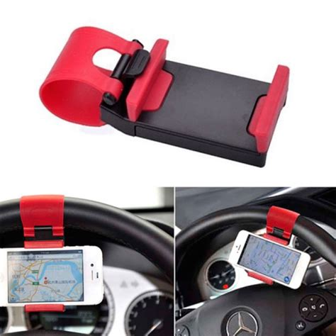 Car Holder Stering universal car steering wheel mobile phone mount socket
