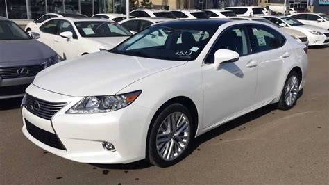 white lexus 2014 2014 white lexus es 350 touring package review edmonton