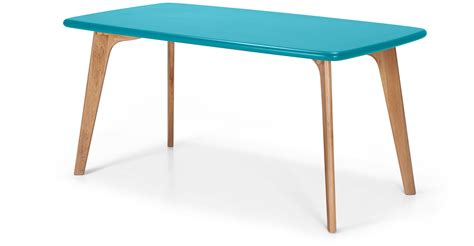 Blue Dining Table Fjord Rectangle Dining Table Oak And Blue Made