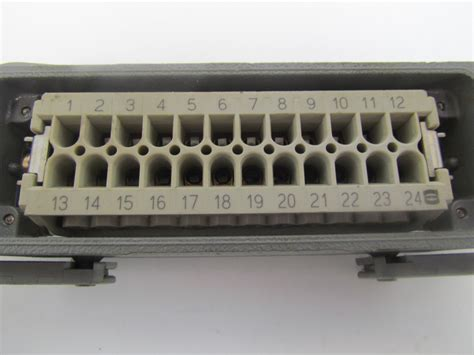 Harting Connector 24 Pin harting hen 24 e h 24 pin connector w juction box blank