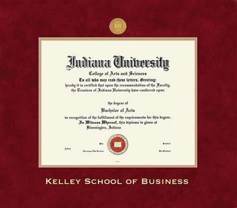 Mba Office Kelley School Of Business by Custom Diploma Frames Certificate Frames Framing