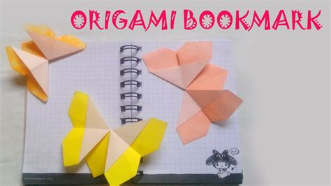 origami origami butterfly bookmark