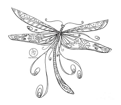 dragonfly coloring page coloring page with beautiful dragonfly drawing by megan