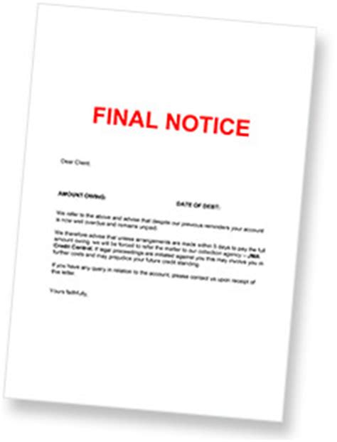 Credit Recovery Letter Template Sle Letter Debt Collector Contoh 36