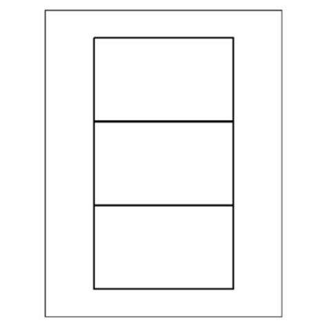 Blank Template Print 4 3x5 Cards by Avery Card Template
