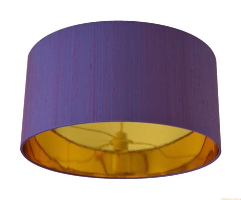 Handmade Copper L Shades - amethyst dupion silk with a mirrored gold lining lshade