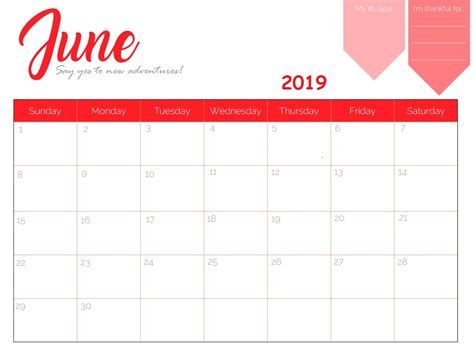 Free Printable 2019 Monthly Calendar Latest Calendar 2019 Planner Template