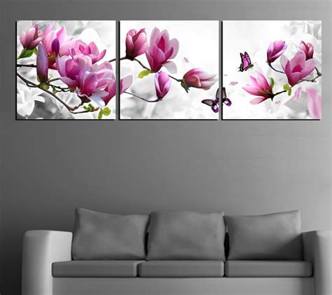 Flower Home Decor Modern With Photo Of Flower Home Plans Aliexpress Buy Luxury Canvas Painting Wall Pictures 3 Panel Wall Such
