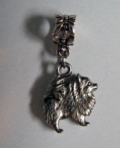 pomeranian pandora charm sterling pomeranian bead charm for trollbead european and all name brand add a
