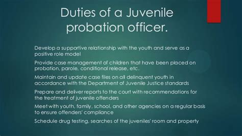 Parole Officer Duties by Probation Officers