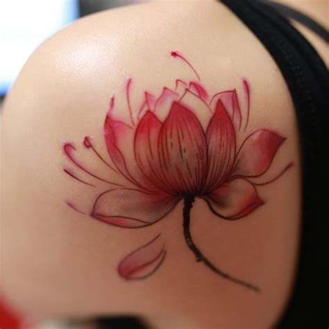 red lotus tattoo lotus flower wrist www pixshark images