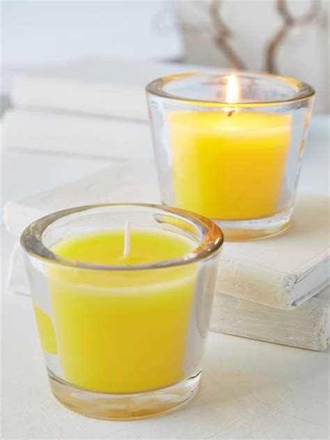 yellow glass candle votive yellow candle votives
