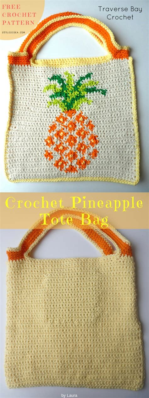 free crochet pattern pineapple bag pineapple tote bag free crochet pattern diy