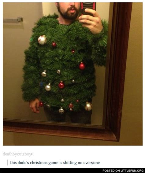 littlefun christmas tree sweater