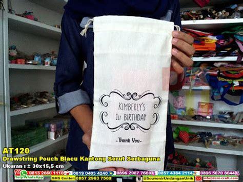 Tas Serut Serbaguna drawstring pouch blacu kantong serut serbaguna souvenir