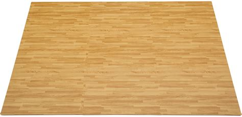 clevr 96 sqft light wood grain foam mat interlocking