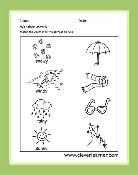 weather worksheets in the weather activity worksheets for preschool children