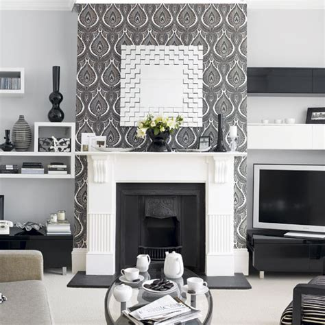 feature wall ideas living room with fireplace walls wallpaper inspiration fireplace wall