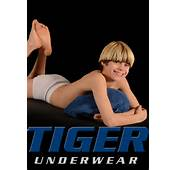 Boy Model Spencer Tiger Underwear Car Tuning