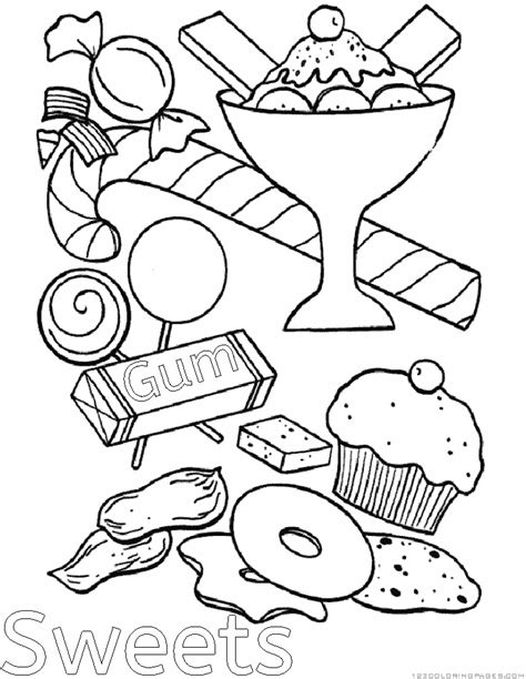 candy chocolate coloring pages part 2