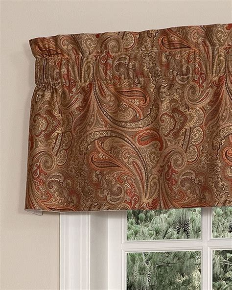paisley valance curtains patna paisley tailored insert valance pretty windows 174