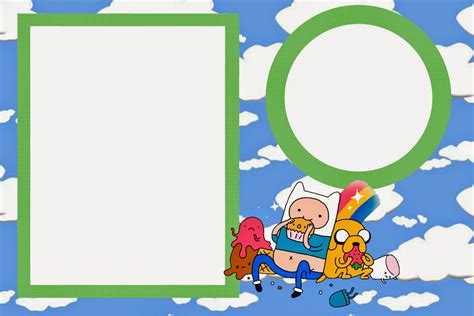 adventure time birthday card template adventure time free printable invitations is it for