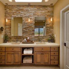 stone backsplash bathroom 1000 images about bathrooms on pinterest tile natural