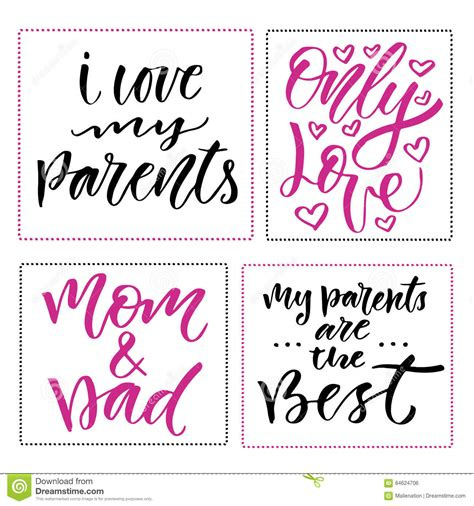 Happy Family Cards Templates by Happy Family Day Prints Set Of Calligraphic