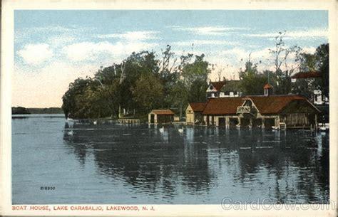 house boats nj boat house lake carasaljo lakewood nj postcard