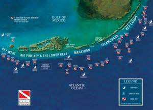florida reefs and wrecks map 1000 ideas about florida on key west