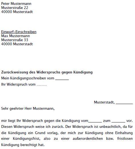 Musterbrief Widerspruch Amtsgericht Musterschreiben Zur 252 Ckweisung Widerspruch Gegen K 252 Ndigung Vermieter Jetzt Downloaden