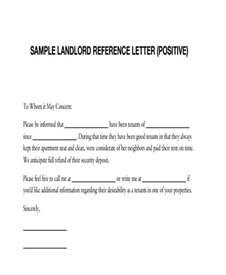 Rental Letter Reference Sle Exles Of Reference Letters