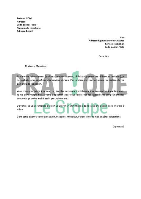 Résiliation Parking Lettre Lettre De R 233 Siliation Voo Pratique Fr