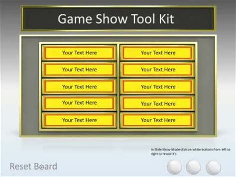 powerpoint quiz show template show tool kit a powerpoint template from